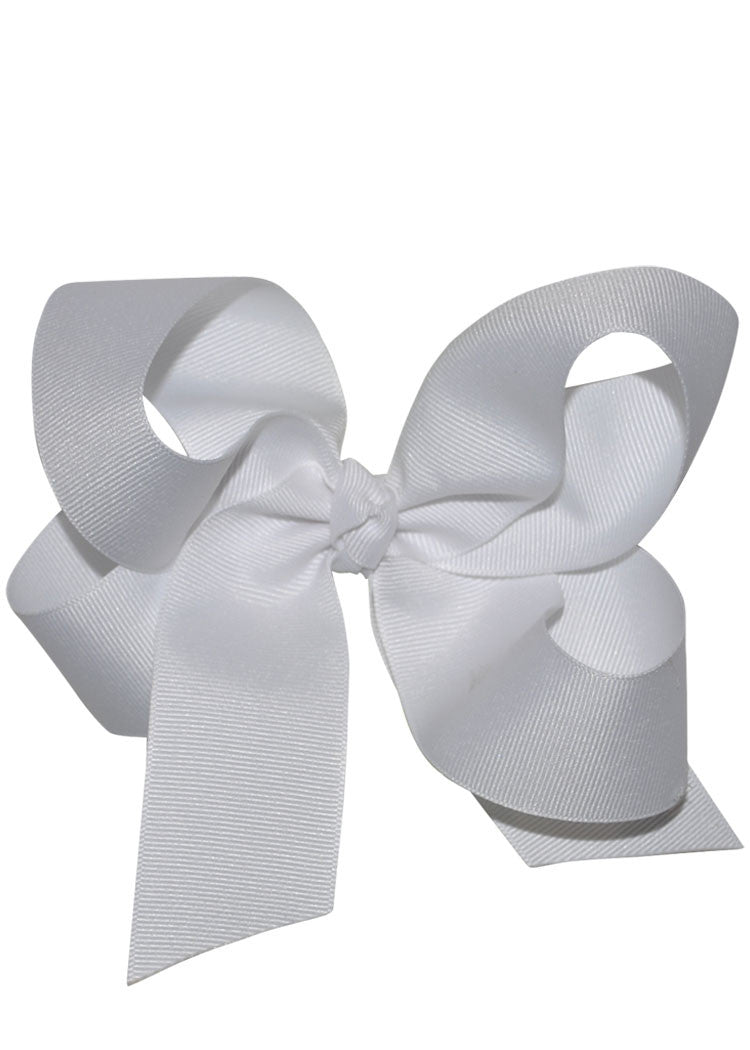Boutique Hairbow Large - White