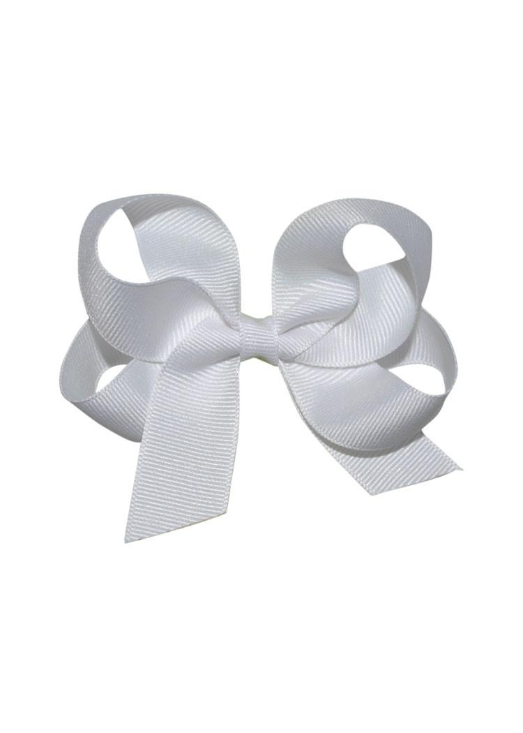 White Medium Hairbow Boutique Style