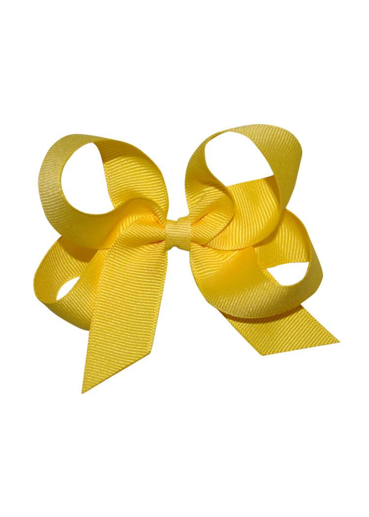 Yellow Medium Hairbow Boutique Style