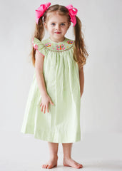 Girl's Hand Smocked Butterfly Bishop Dress