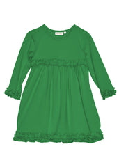 Girls Kelly Green Knit Personalized Dress