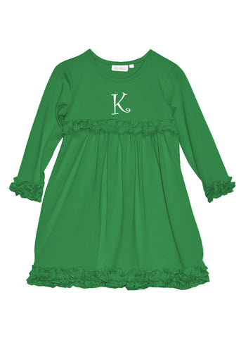 Girl's Kelly Green Knit Dress