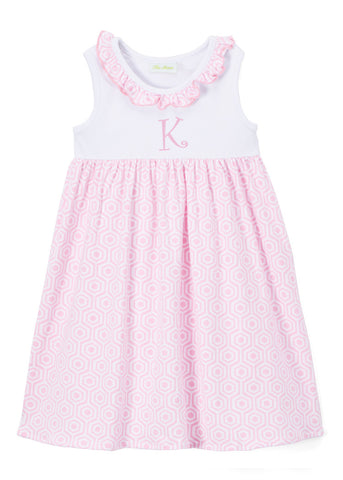 Girls Light Pink Arabesque Print Dress