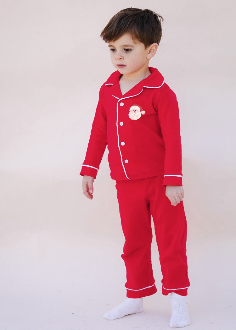 Applique Santa Red Boy's Loungewear