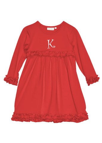 Girl's Red  Knit Dress