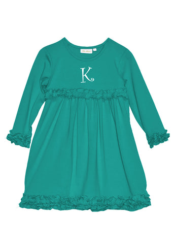 Girl's Teal Knit Dress