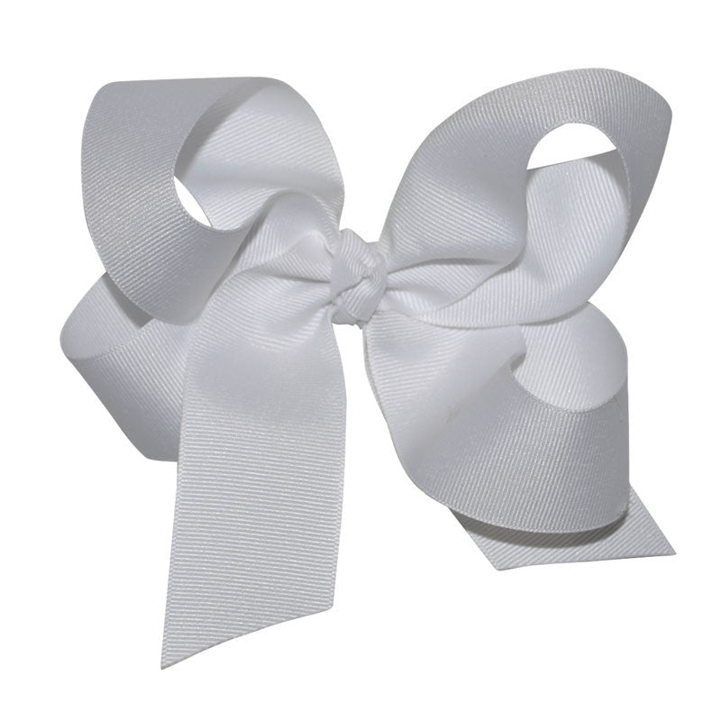 White Large Hairbow Boutique Style