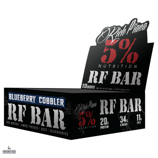 Rich Piana 5% Nutrition Real Food Bars - 10 Pack