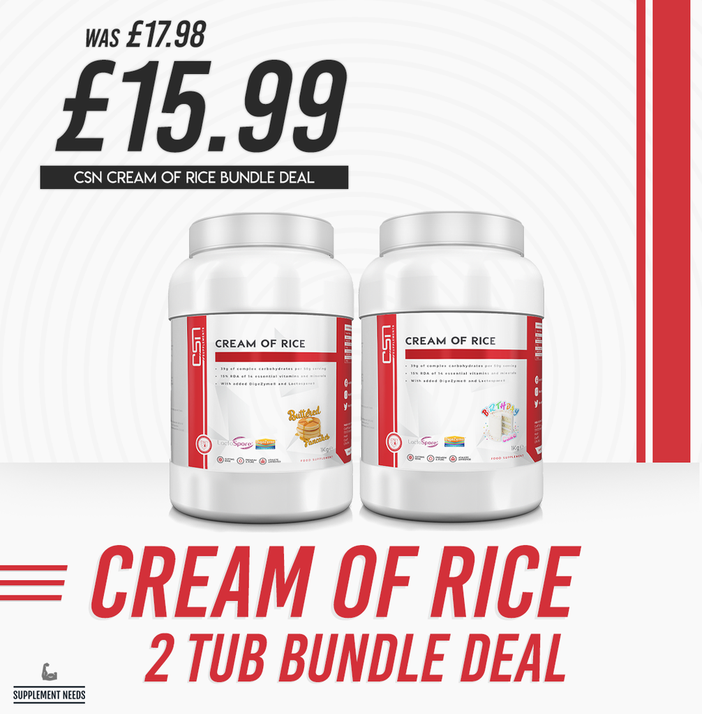 CSN Supplements 2 1kg Cream of Rice Bundle