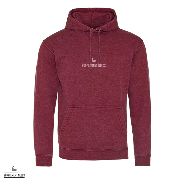 Supplement Needs Washed Hoodie - Burgundy