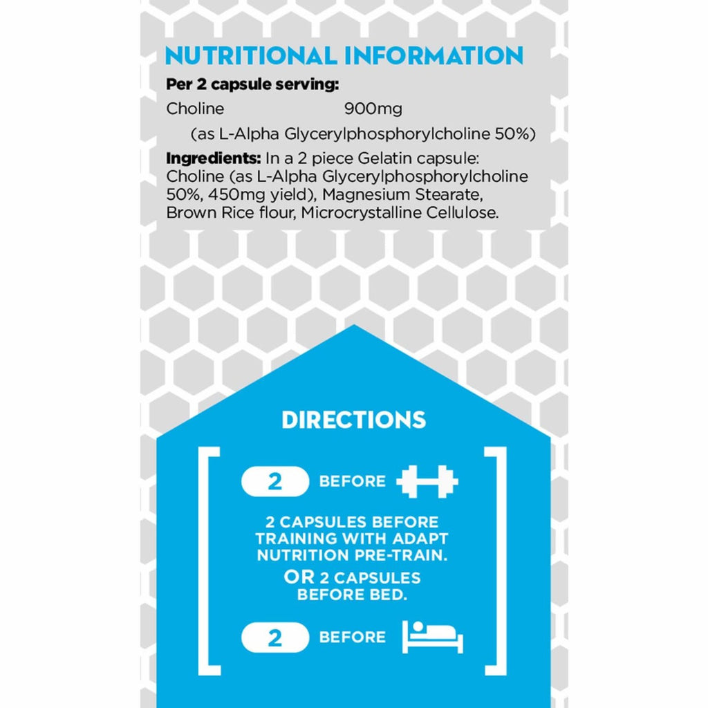 Adapt Nutrition GH Assist Nutrition and Dosage Label
