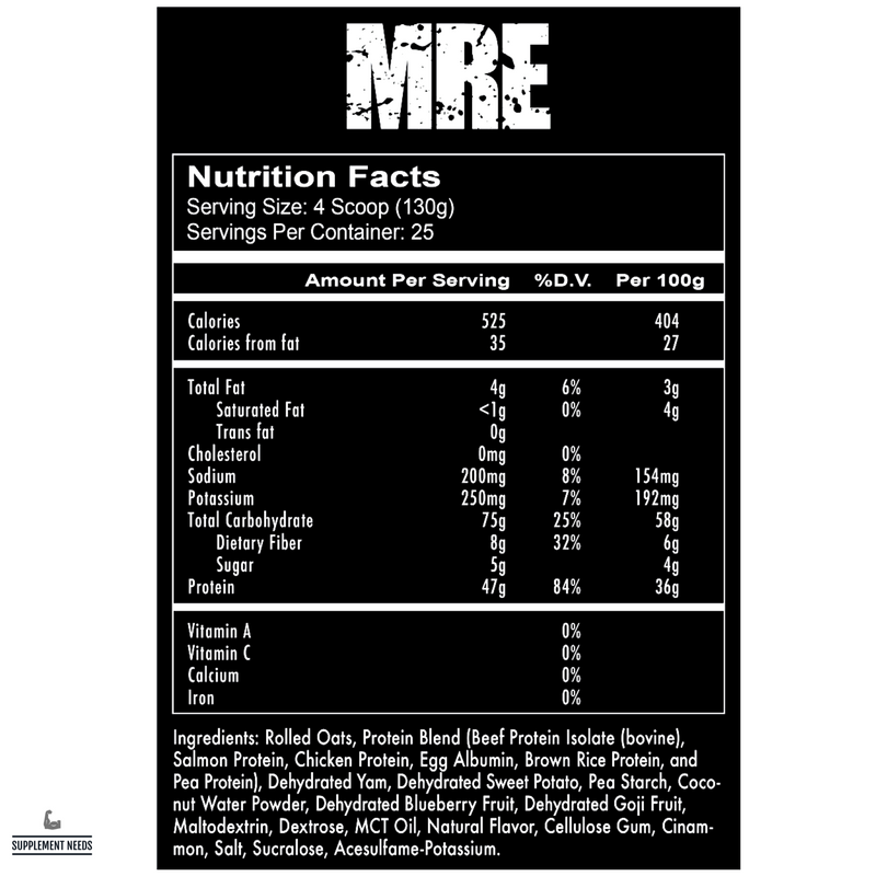Redcon1 MRE Meal Replacement - 3.25kg