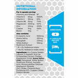 Adapt Nutrition Testo+ Nutrition and Dosage Label