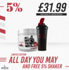 Rich Piana 5% Nutrition - All Day You May Limited Edition + FREE Shaker