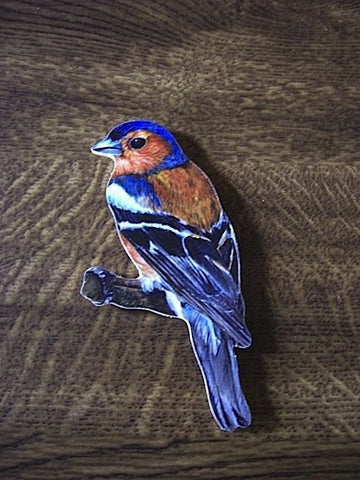 Chaffinch Jumbo Wooden Bird Fridge Magnet