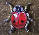 Ladybird shaped Jumbo Wooden Lady Bug Fridge Magnet