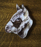 Donkey shaped Jumbo Wooden Fridge Magnet