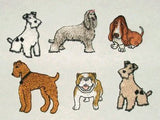 Assorted Dogs Sew On Patch embroidered dog Applique sewing and craft projects