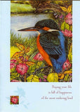 Kingfisher Birthday Card by Anne Mortimer
