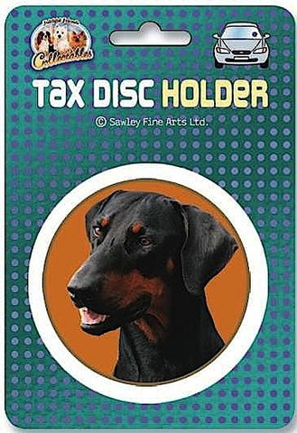 Dobermann Pinscher dog Car Tax Disc Holder