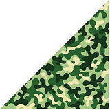 Camouflage dog bandana fun neckerchief neck scarf Military Khaki Army Green (bd016)