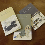 A set of 3 pocket notebooks DOGS - plain, lined and graph pages The Little Dog