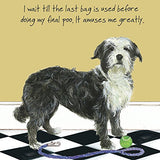 FUNNY DOG BLANK or Birthday card - POO BAG