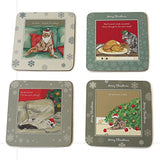 The Little Dog Laughed Cat Placemat Set of 4 Christmas Cats