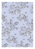 Kew Gift Wrap - Lilac Floral Trail Flowers and Butterfly (1 sheet + 1 tag)