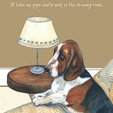 Basset Hound dog BLANK birthday card Funny cards for dog lovers - Pipe Brandy...
