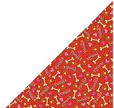 100% Cotton Dog Bandana Poodle neck scarf Red