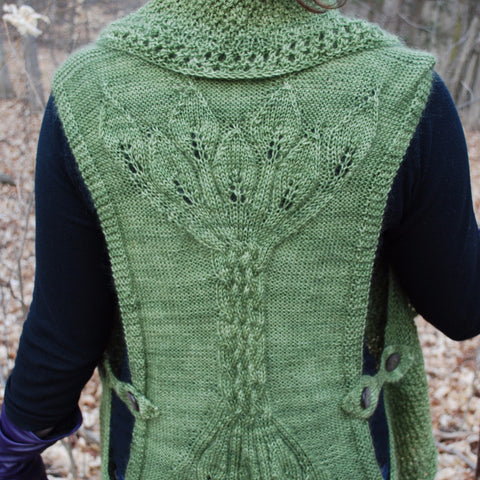 Eramosa Vest Knitting Pattern (PDF) by Phibersmith Designs