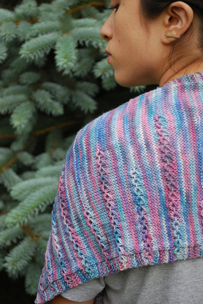 Lavender Scarf Pattern (PDF) - Knitting Pattern by Phibersmith Designs