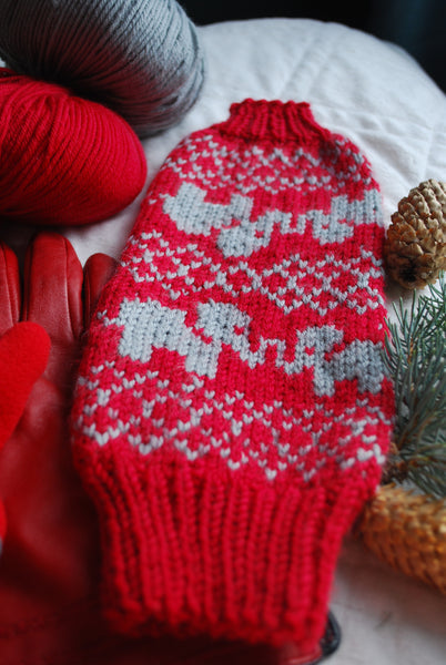 Co-mitted (a hand-holding mitten) Knitting Pattern (PDF) by Phibersmith Designs