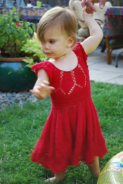 Madalena Dress Pattern (PDF) - Knitting Pattern by Phibersmith Designs