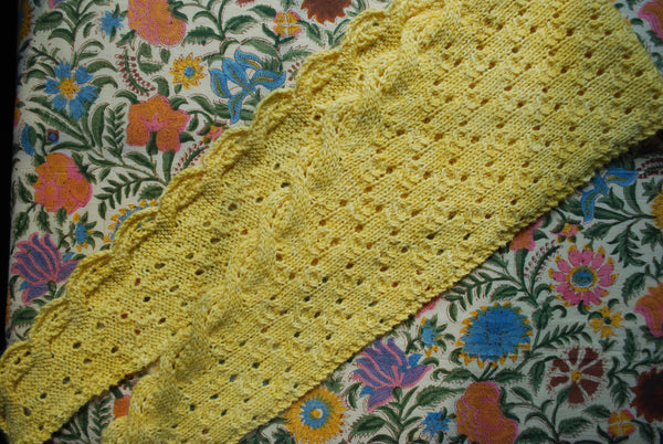 Boon of Roses Scarf Knitting Pattern (PDF) by Phibersmith Designs