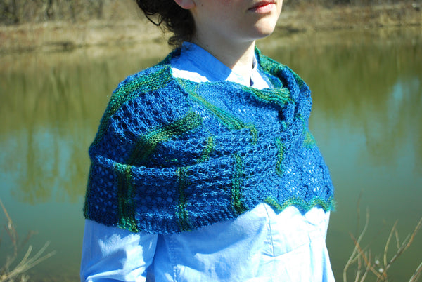Grand River Stole Knitting Pattern (PDF) by Phibersmith Designs