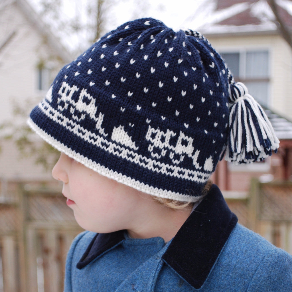 There Goes the Snow Plow! Hat Pattern (PDF) - Knitting Pattern by Phibersmith Designs