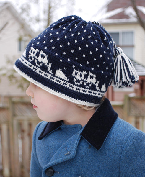There Goes the Snow Plow! Hat Kit - Knitting Kit by Phibersmith Designs