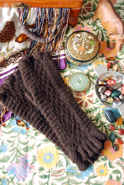 Filetage Fingerless Gloves Pattern (PDF) - Knitting Pattern by Phibersmith Designs