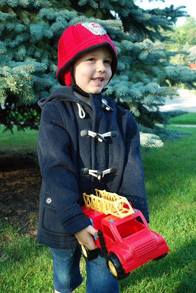 Cozy Firefighter Pattern (PDF) - Knitting Pattern by Phibersmith Designs