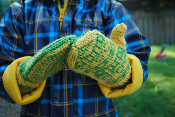This Way / That Way Directional Mitten Kit - Knitting Kit by Phibersmith Designs