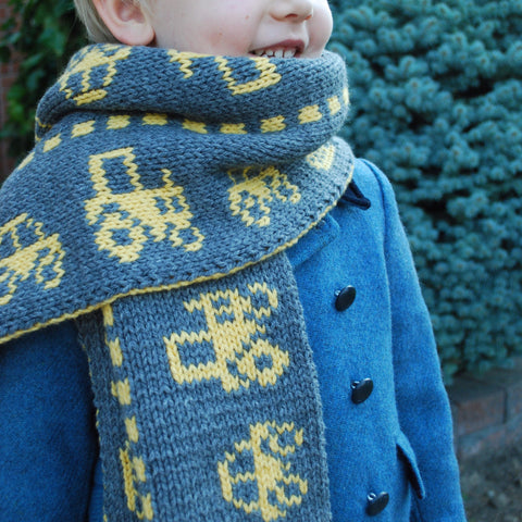 Traffic Scarf Pattern (PDF) - Knitting Pattern by Phibersmith Design
