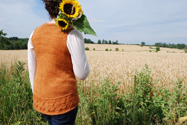 Maryborough Vest Knitting Pattern (PDF) by Phibersmith Designs