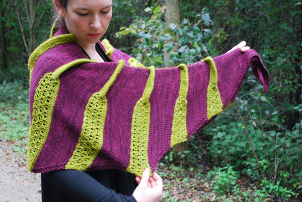 Plicata Shawl Knitting Pattern (PDF) by Phibersmith Designs