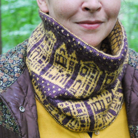 Painted Ladies Cowl Knitting Pattern (PDF) by Phibersmith Designs