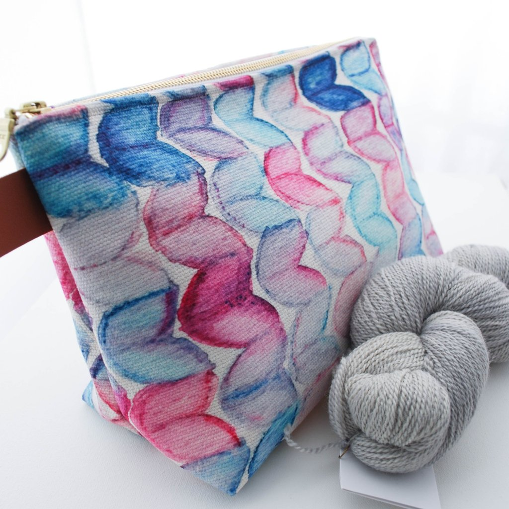 Watercolour Knits Project Bag