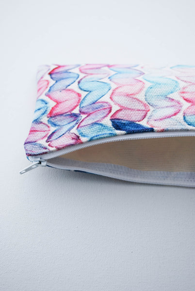 Watercolour Knits Zippered Notion Bag