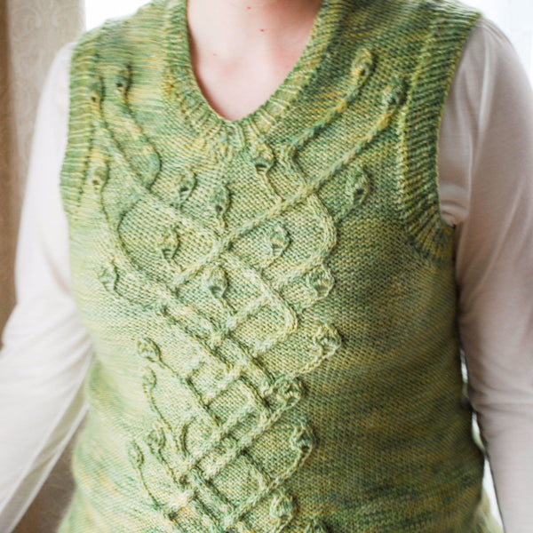Hederalia Vest Knitting Pattern (PDF) by Phibersmith Designs