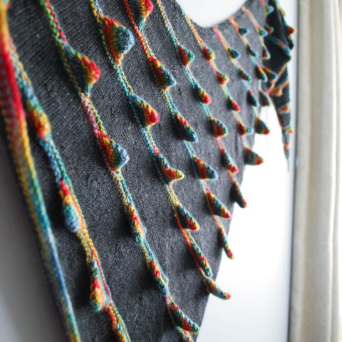 Who Spiked the Shawl? Knitting Pattern (PDF) by Phibersmith Designs